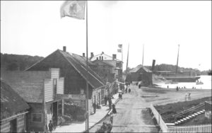 Russia officially turned Alaska over to the Americans in October 1867 in the Southeast town of Sitka, seen here in the 1880s.