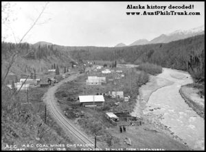 The U.S. Navy dug for coal at Chickaloon in the Matanuska Valley. The route carved out by Jack Dalton led to the placement of the Alaska Railroad and Anchorage a few years later.