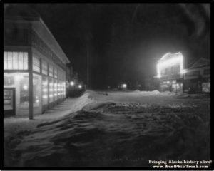 Brown & Hawkins general store, left, opened in Seward in 1904.