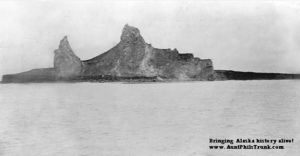 Aleuts were eyewitnesses to how earthquakes formed islands in the Aleutian Chain, including Bogoslov, pictured here.