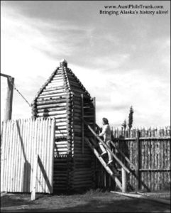 This replica shows what the original Hudson's Bay Co. post, established at Fort Yukon in 1846, looked like.