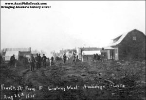 Fourth Avenue became the center for business in Anchorage because it sat along a flat plateau.