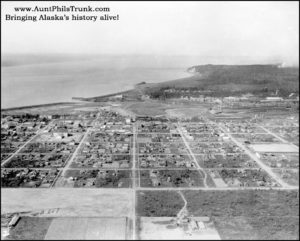 In 1923, Anchorage residents cleared land between Ninth and Tenth avenues so newfangled flying machines could land near town.