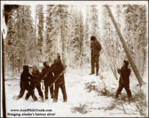 As the Territory of Alaska grew up, the people in the Great Land distanced themselves from frontier justice – as in the photo here – and turned to sending criminals back to the Lower 48 with one-way tickets south.