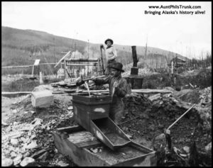 Prospectors worked hard to find golden riches in Alaska during the gold-rush era.